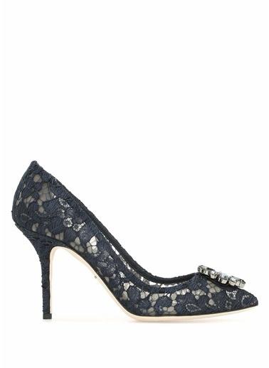 Dolce&Gabbana İnce Topuklu Dantel Ayakkabı Lacivert